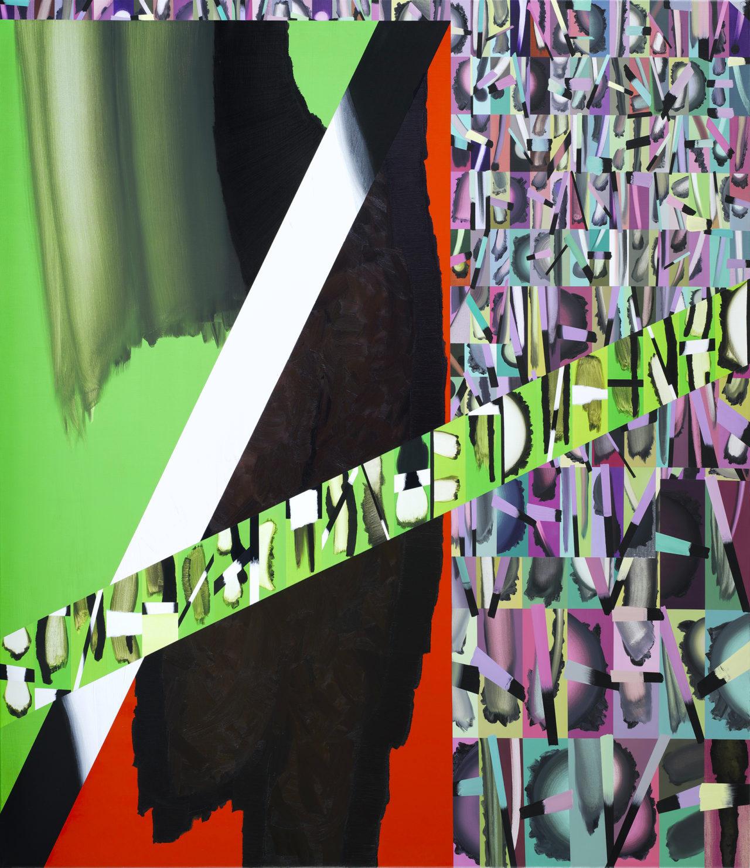 Klaus Merkel, 20.02.18/17.12.01 Gegend Grünewald (für + Peter Dreher) 220 x 190cm , Courtesy the artist