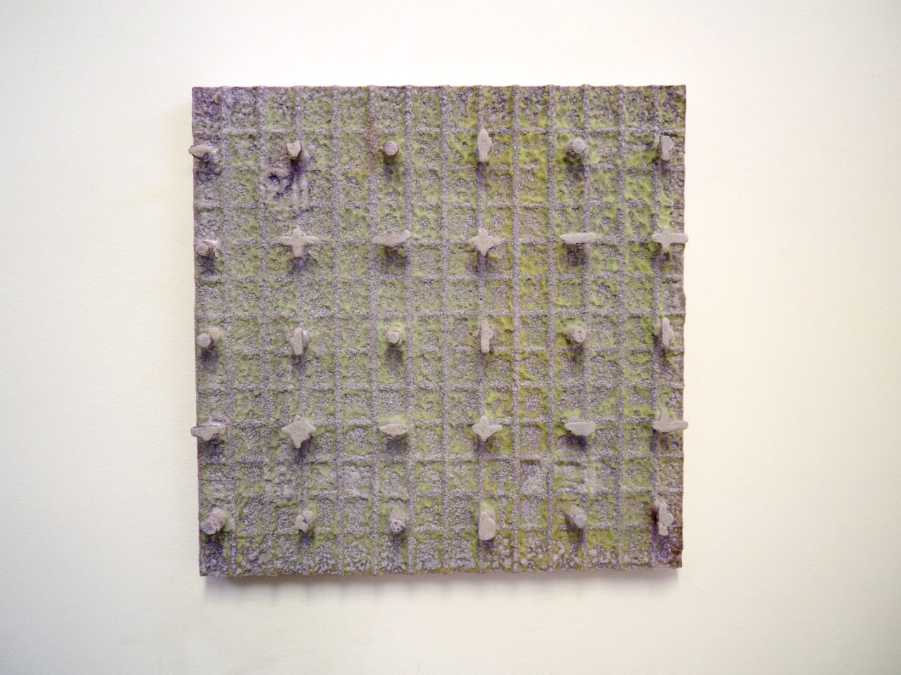 Paul Ahl, Dispersion 30, 2020, Beton, Pigment, Schaumstoff, 53 x 53 x 7 cm