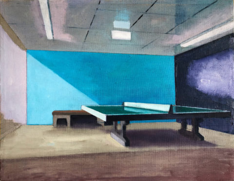 Martin Kasper, Pingpong 1, 2020, 35 x 45 cm, Öl auf Leinwand, courtesy the artist