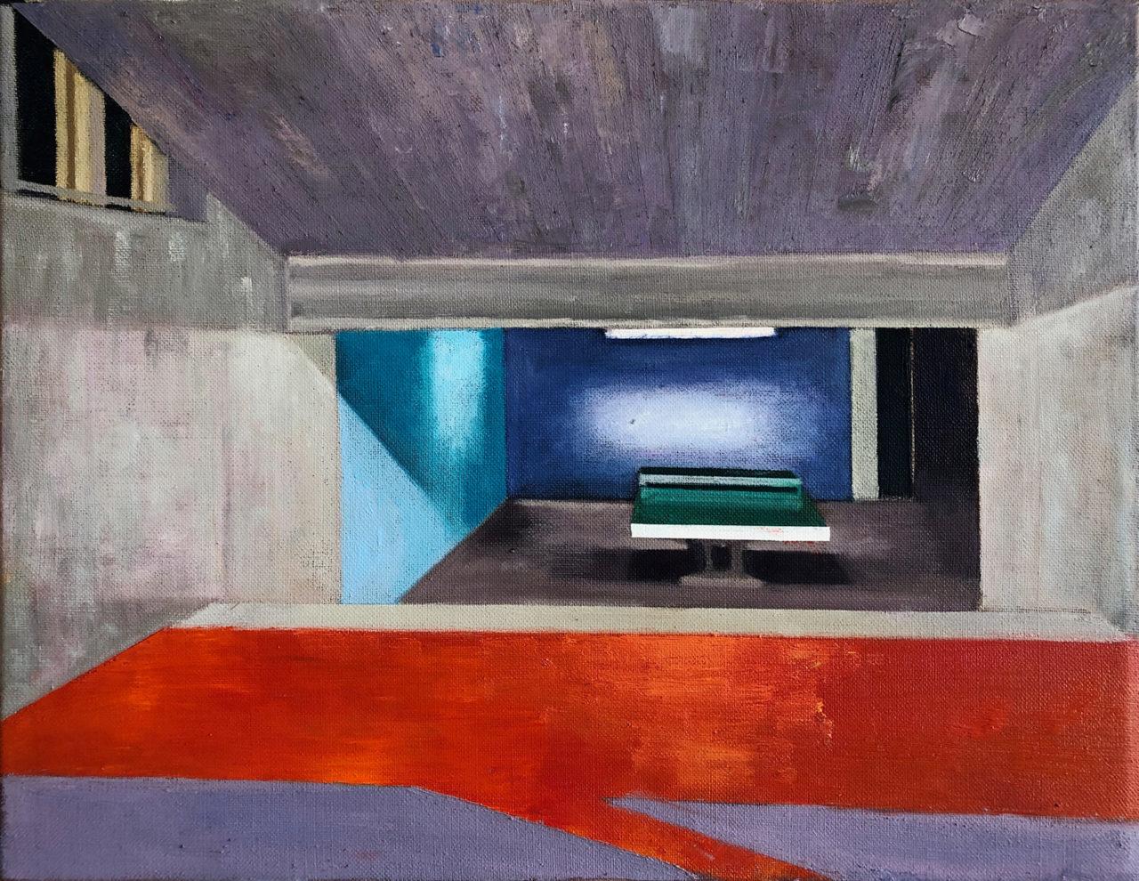 Martin Kasper, Pingpong 2, 2020, 35 x 45 cm, Öl auf Leinwand, courtesy the artist